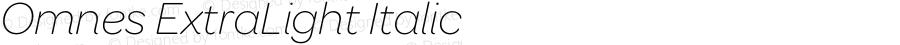 Omnes ExtraLight Italic 001.000