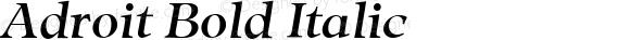 Adroit Bold Italic