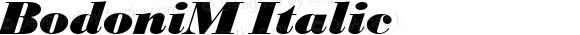 BodoniM Italic Version 4.0