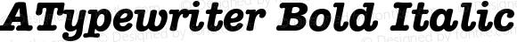 ATypewriter Bold Italic