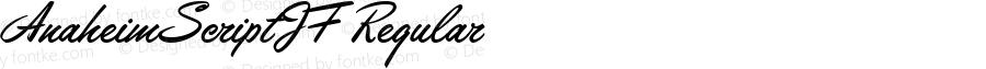 AnaheimScriptJF Regular Fontographer 4.7 7/3/07 FG4M0000002963