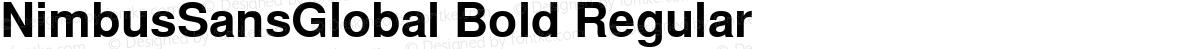 NimbusSansGlobal Bold Regular