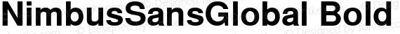 NimbusSansGlobal Bold Regular preview image