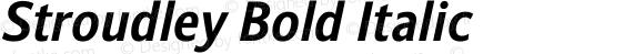 Stroudley Bold Italic Version 1.000