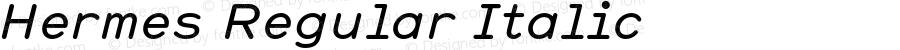 Hermes Regular Italic 001.000