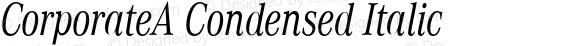 CorporateA Condensed Italic