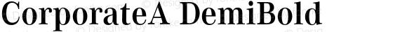 CorporateA DemiBold