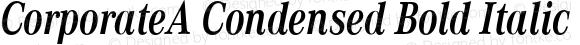 CorporateA Condensed Bold Italic