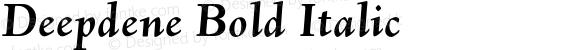 Deepdene Bold Italic 4.0