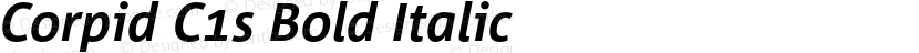 Corpid C1s Bold Italic Preview Image
