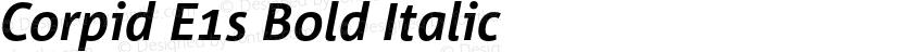 Corpid E1s Bold Italic Preview Image