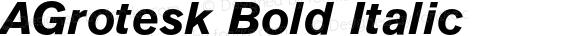 AGrotesk Bold Italic 4.0