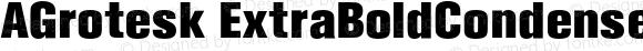 AGrotesk ExtraBoldCondensed Regular 4.0