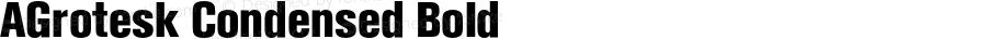 AGrotesk Condensed Bold 4.0