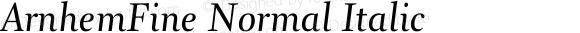 ArnhemFine Normal Italic 001.000