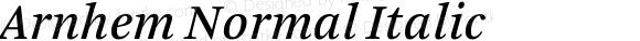 Arnhem Normal Italic 001.000