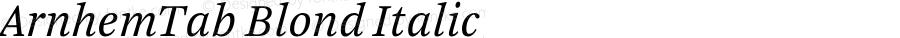 ArnhemTab Blond Italic 001.000