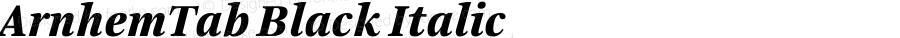 ArnhemTab Black Italic 001.000