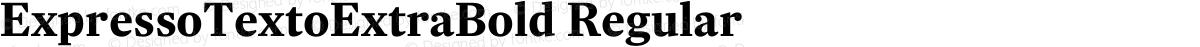 ExpressoTextoExtraBold Regular