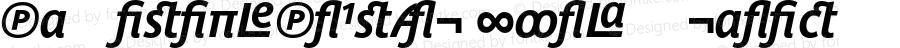 ParisinePlusAlt Bold Italic 001.001