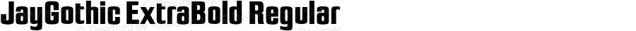 JayGothic ExtraBold Regular 4.0