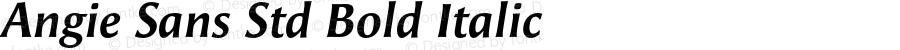 Angie Sans Std Bold Italic Version 1.000