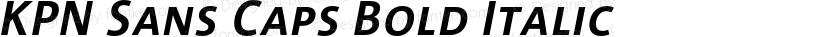 KPN Sans Caps Bold Italic Preview Image
