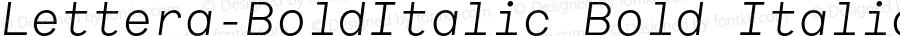 Lettera-BoldItalic Bold Italic 001.000