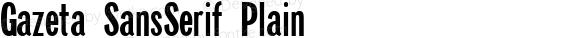 Gazeta SansSerif Plain preview image