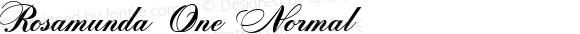 Rosamunda One Normal Version 1.000 2005 initial release