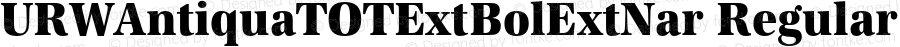 URWAntiquaTOTExtBolExtNar Regular Version 1.000;PS 1.05;Core 1.0.35