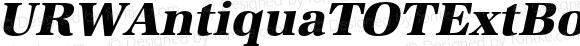 URWAntiquaTOTExtBol Italic Version 1.000;PS 1.05;Core 1.0.35