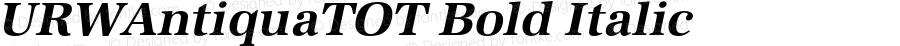 URWAntiquaTOT Bold Italic Version 1.000;PS 1.05;Core 1.0.35