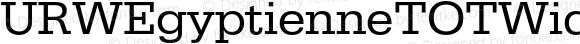 URWEgyptienneTOTWid Regular Version 1.000;PS 1.05;Core 1.0.35
