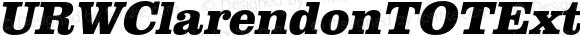 URWClarendonTOTExtBol Italic Version 1.000;PS 1.05;Core 1.0.35