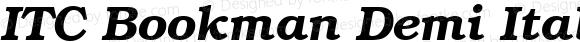 ITC Bookman Demi Italic