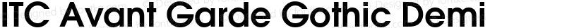 ITC Avant Garde Gothic Demi Preview Image