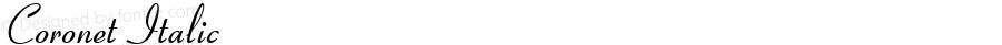 Coronet Italic 19: 90249: 1998