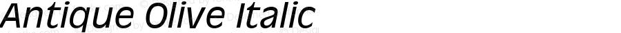 Antique Olive Italic 19: 91846: 1998