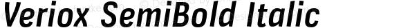 Veriox SemiBold Italic