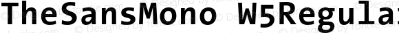 TheSansMono W5Regular Bold Version 3.009