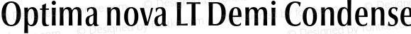 Optima nova LT Demi Condensed 001.000