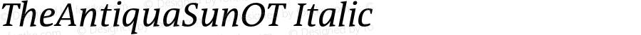 TheAntiquaSunOT Italic Version 2.000