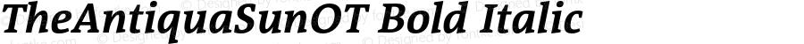 TheAntiquaSunOT Bold Italic Version 2.000