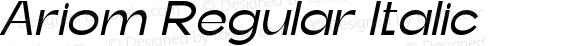 Ariom Regular Italic