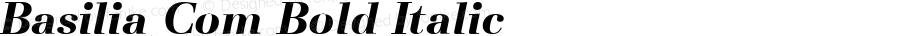 Basilia Com Bold Italic Version 1.01