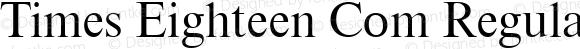 Times Eighteen Com Regular Version 1.01