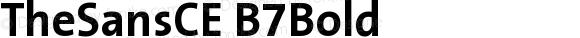 TheSansCE B7Bold Version 001.006