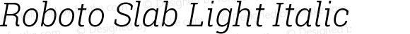 Roboto Slab Light Italic