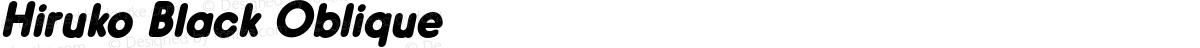 Hiruko Black Oblique